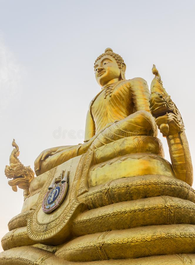 Free Front View Of Golden Buddha Statue Surrounding The Big Buddha St Royalty Free Stock Photos - 102102508