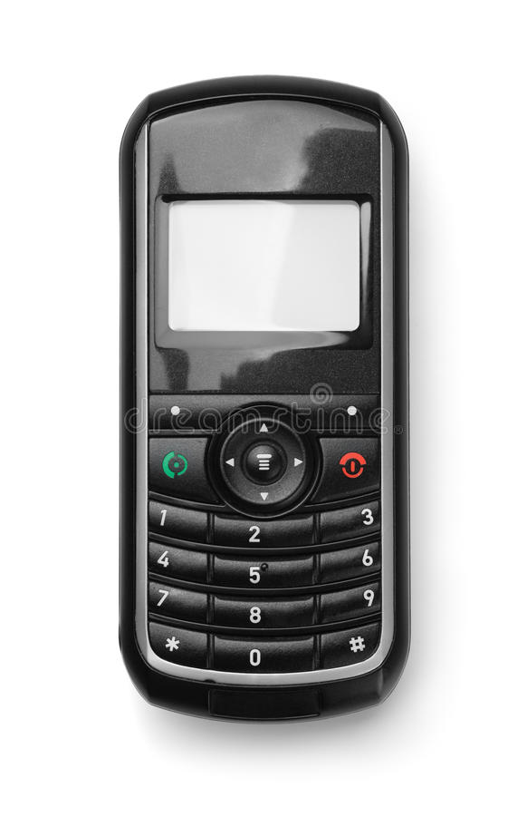 Front view of old cell phone royalty free stock photos