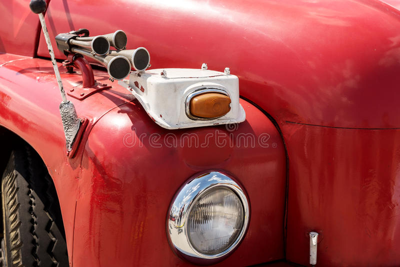 Front view of an old fire truck royalty free stock images