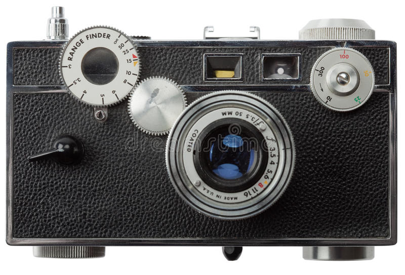 Download Front View Of Old Rangefinder Camera Stock Image - Image: 12310351