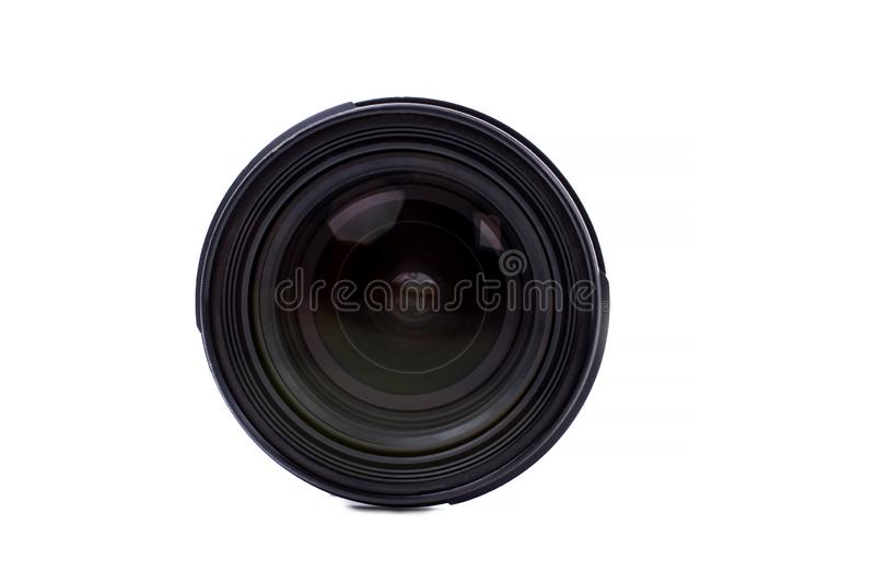 Front view of photo lens. stock image