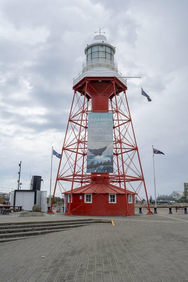 Front View: Porto Adelaide Lighthouse, SA fotografia stock