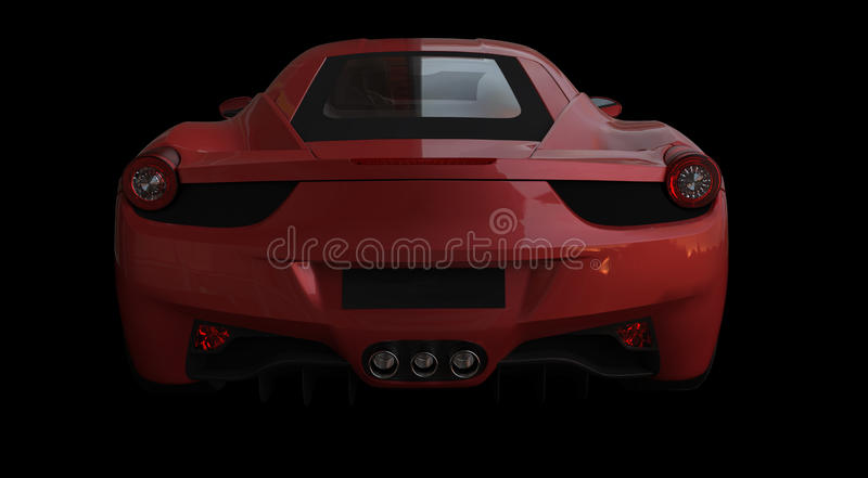 Front View Of A Red Sportcar Editorial Stock Image