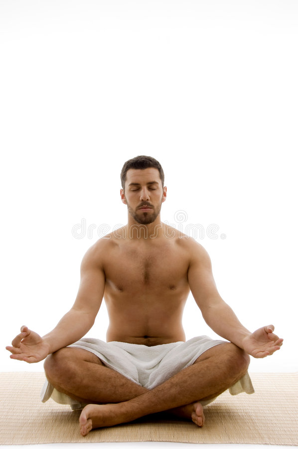 Download Front View Of Relaxing Male Stock Photo - Image of isolated, therapy: 7417600