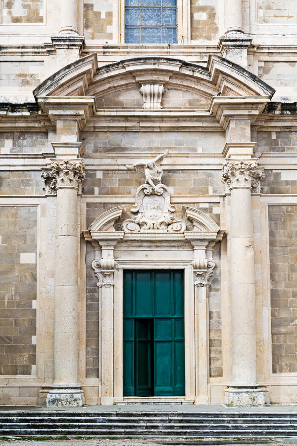 Front view of Saint Ignatius Church in Dubrovnik royalty free stock photos