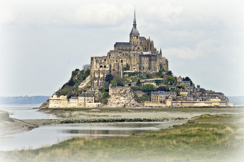 Front view of Saint Michel stock image