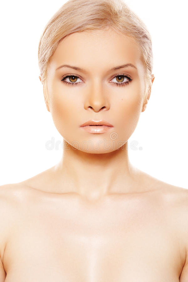 Download Front View Of Beauty With Natural Day Make-up Stock Image - Image: 15043603