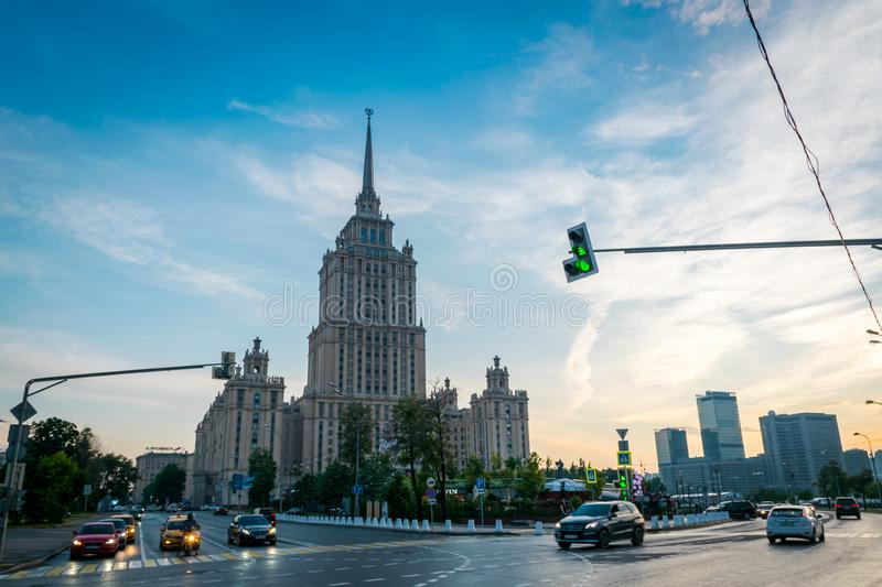 The Radisson Royal Hotel in Moscow, Russia. royalty free stock image