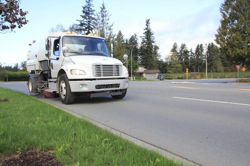 Front View of Street Sweeper royalty free stock photos