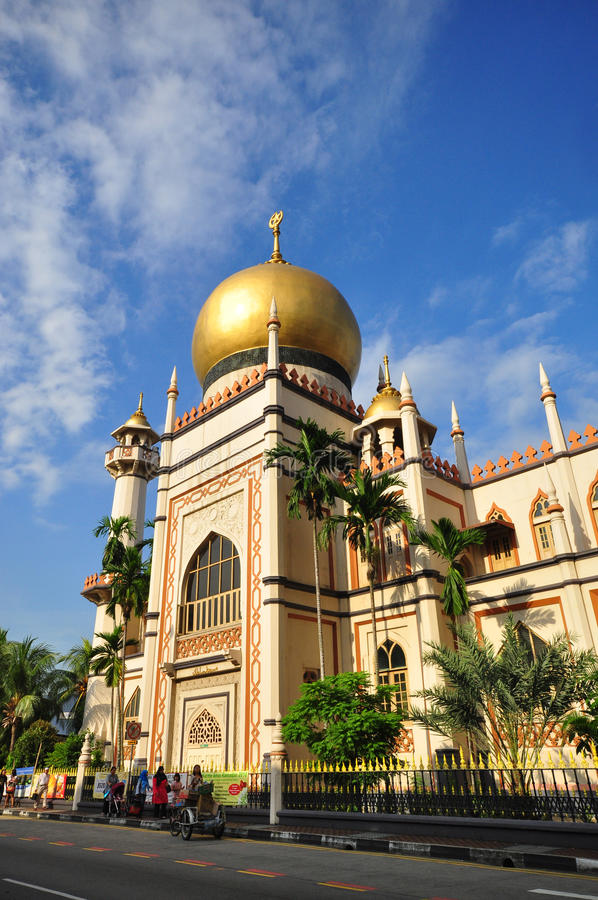 Front view of Sultan Mosque, Singapore 2. Picture of Sultan Mosque in Singapore stock photo