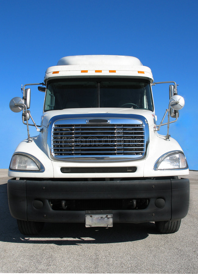 Semi Tractor Grills : Front view of tractor trailer stock photos image