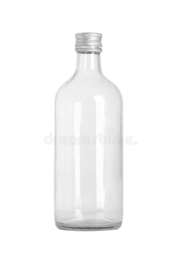 Download Front View Of Transparent Glass Bottle Stock Image - Image: 14851011