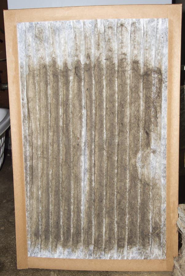 Front View Of un filtre sale de four photo libre de droits