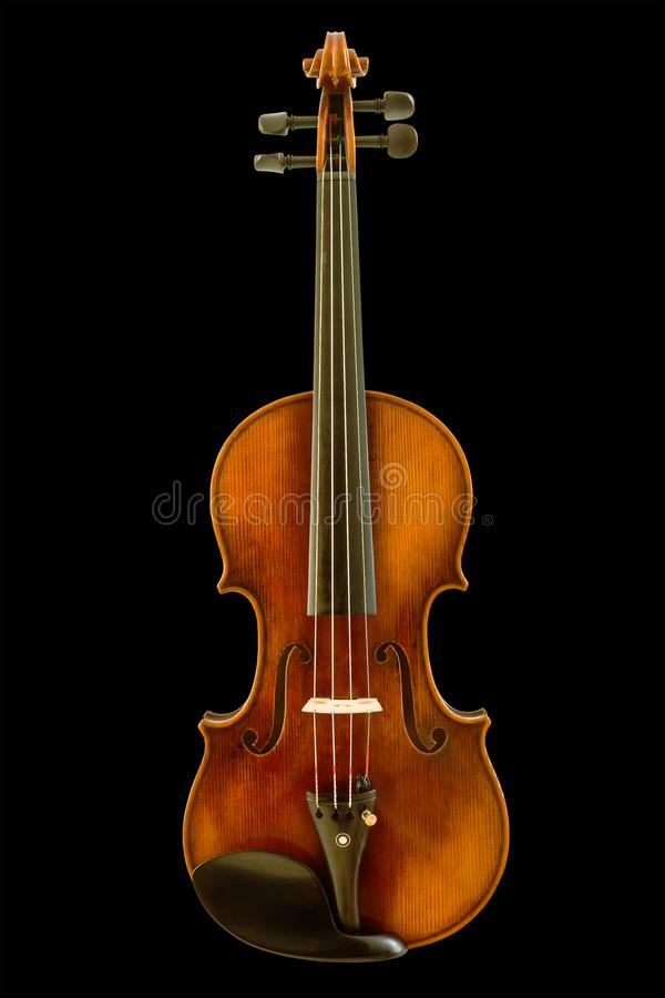 Beautiful vintage violin isolated with clipping path stock image