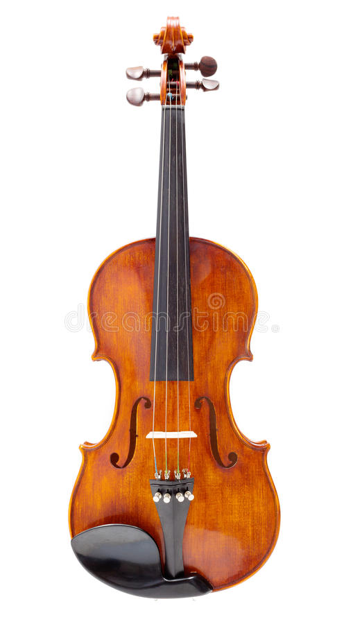 Front view of a violin royalty free stock photography
