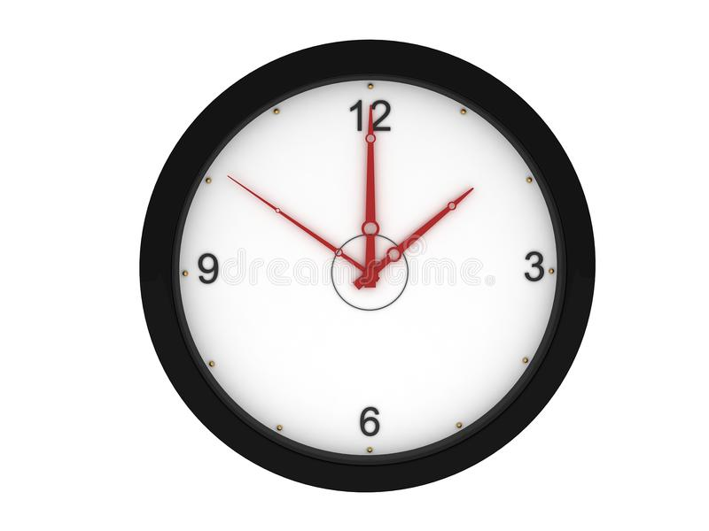 Download Front view of wall clock stock illustration. Illustration of object - 9350098
