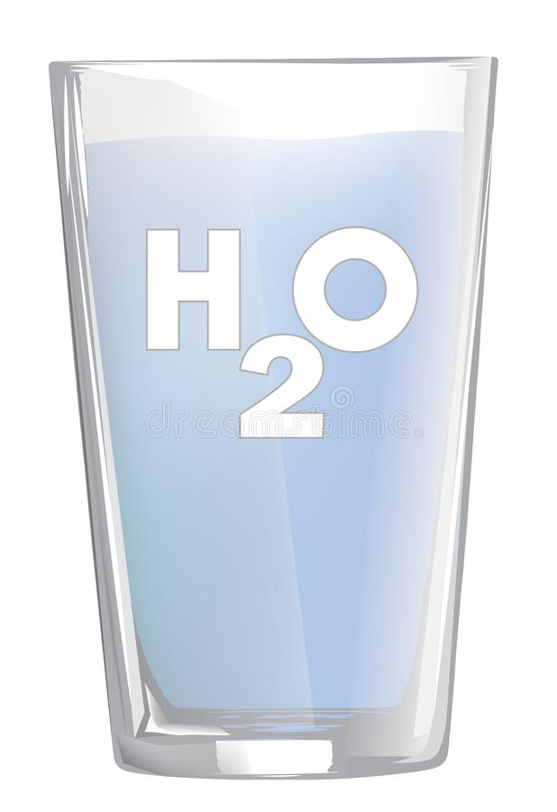 Front view of water glass isolated on white royalty free stock photo
