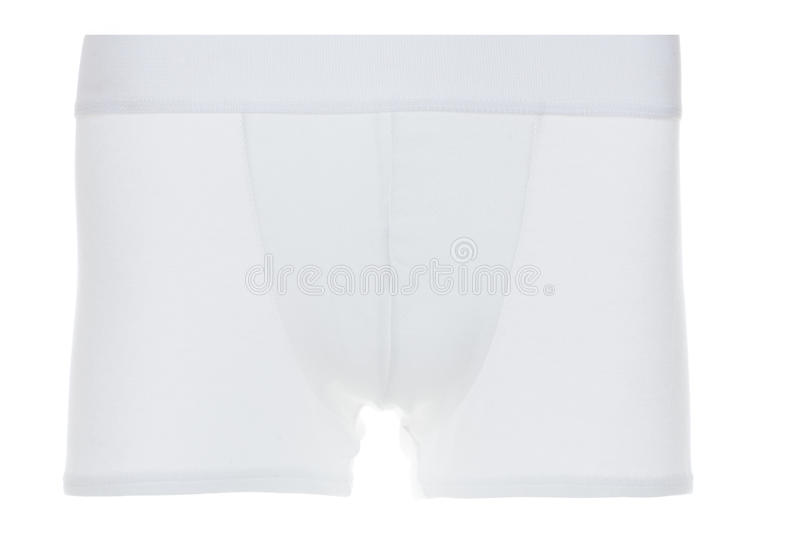Front View of White Boxer Brief Underwear royalty free stock photography
