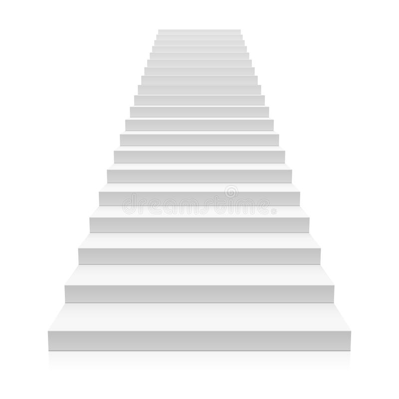Front View Of White Staircase Stock Vector