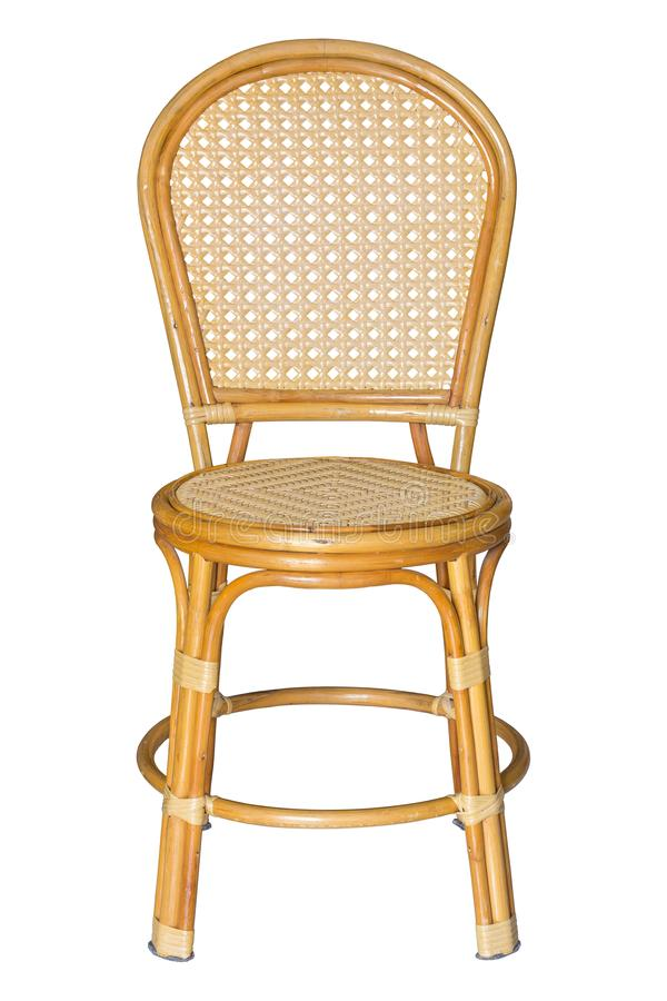 Front view of wicker chairs isolated on white royalty free stock image