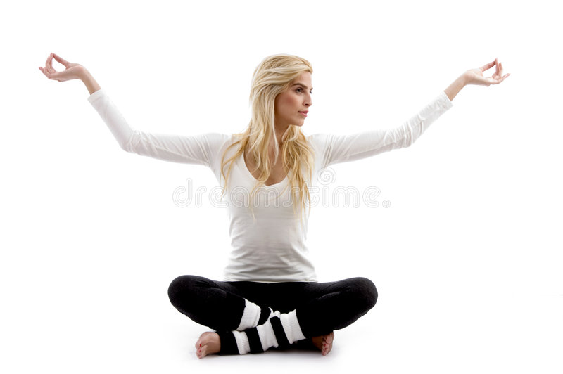 Download Front View Of Woman Practicing Yoga Stock Photo - Image: 7367804