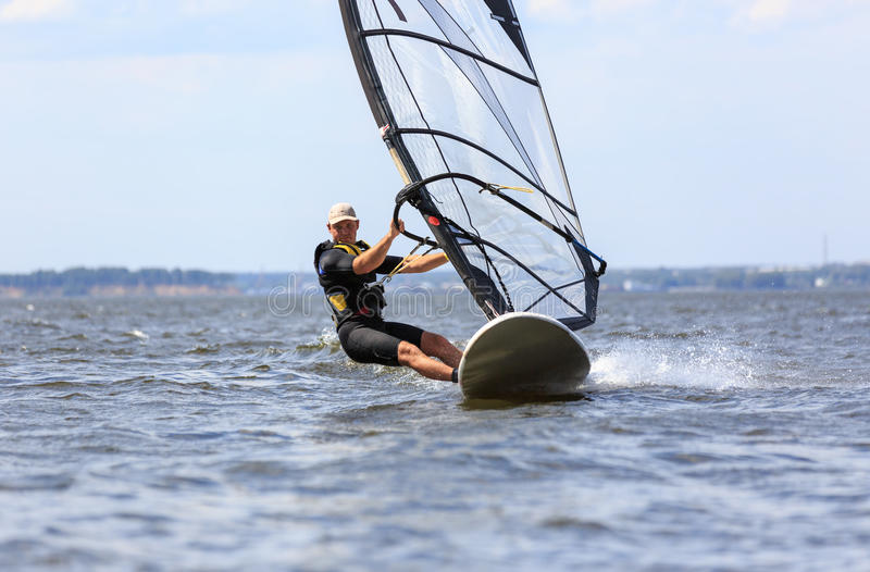 Download Front View Of Young Windsurfer Stock Photo - Image: 33444036