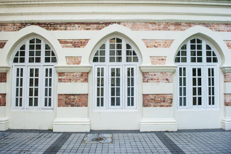 Front von Gebäudefenstern lizenzfreie stockfotos