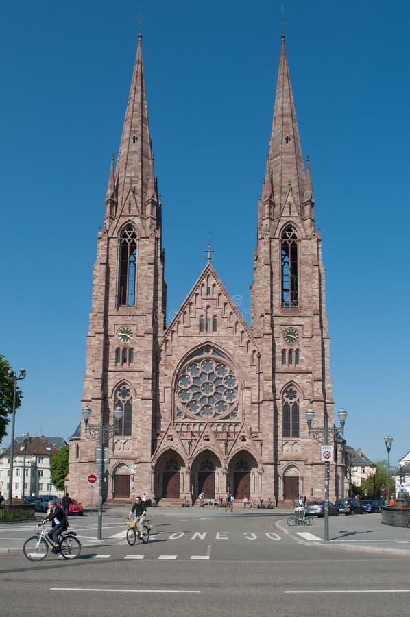 Front von St Paul Kirche lizenzfreies stockfoto