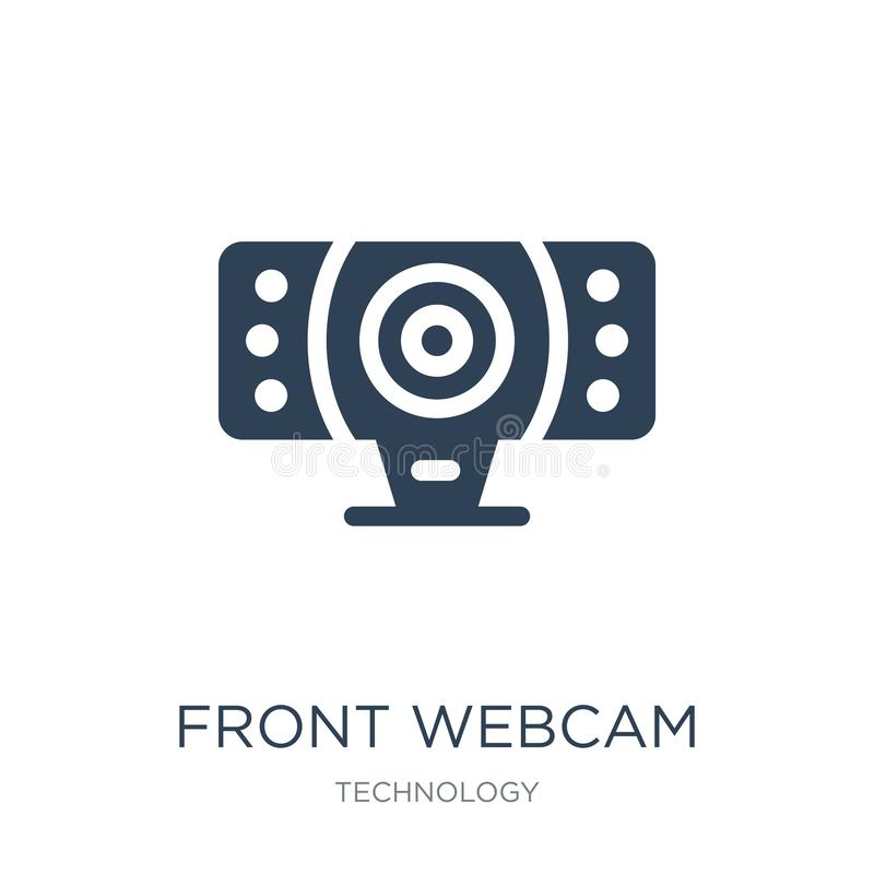 Front webcam icon in trendy design style. front webcam icon isolated on white background. front webcam vector icon simple and. Modern flat symbol for web site vector illustration