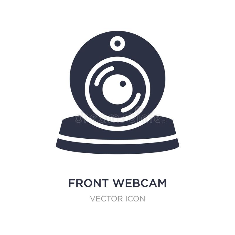 front webcam icon on white background. Simple element illustration from Technology concept royalty free illustration