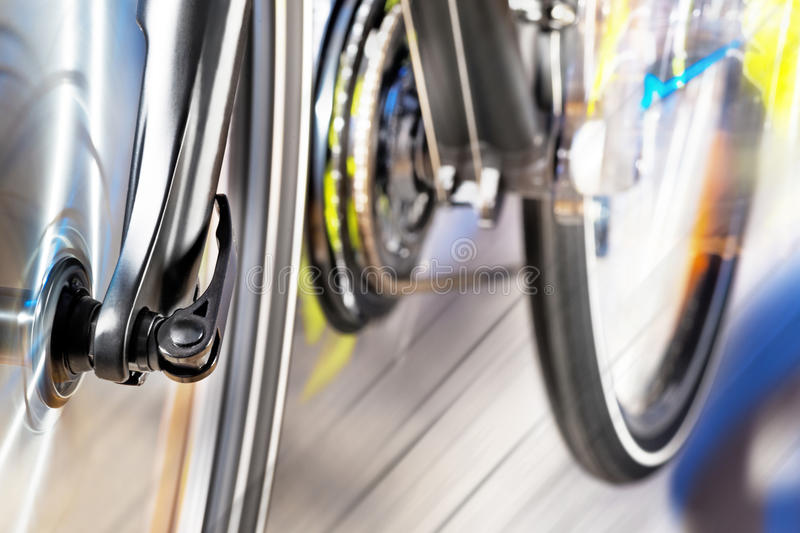 Front Wheel With Front Derailleur royalty-vrije stock fotografie
