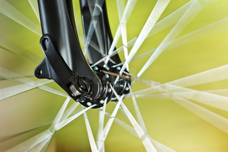 Front Wheel Of New Bicycle royalty-vrije stock foto
