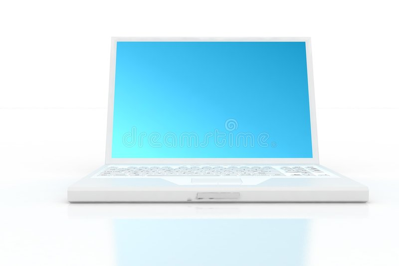 Download Front Of White Laptop Stock Photo - Image: 3627620