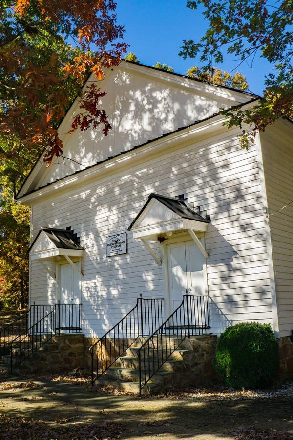 Frontaal Weergeven van de Pieken Presbyteriaanse Kerk, Virginia, de V.S. royalty-vrije stock foto