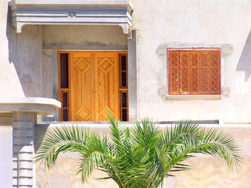 Frontage da casa tunisina. fotografia de stock royalty free