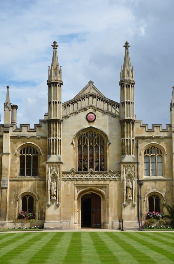 Frontage del christie Cambridge del corpus immagine stock libera da diritti