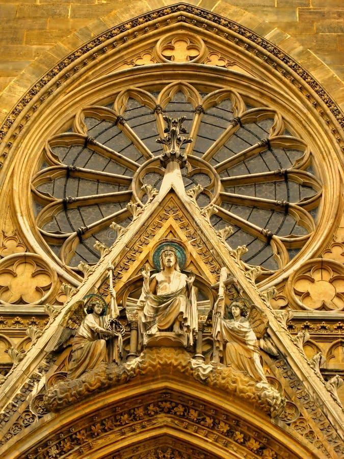 Frontage della basilica parigina di Sainte Clotilde immagini stock libere da diritti