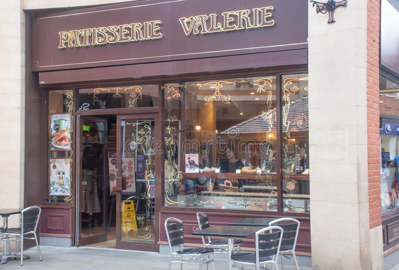 Frontage of Patisserie Valarie Pastry Shop royalty free stock image