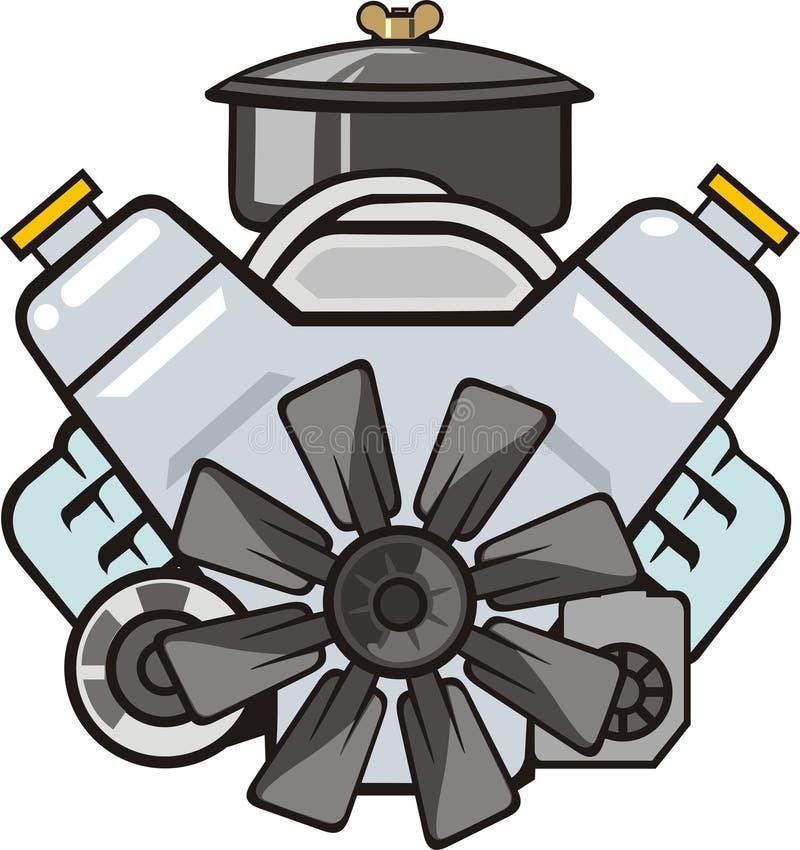 Frontal del motor libre illustration
