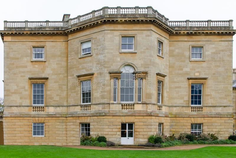 Frontal image of a Stately home in Britain. Stately home Britain taken from the front. Built to be imposing royalty free stock photos