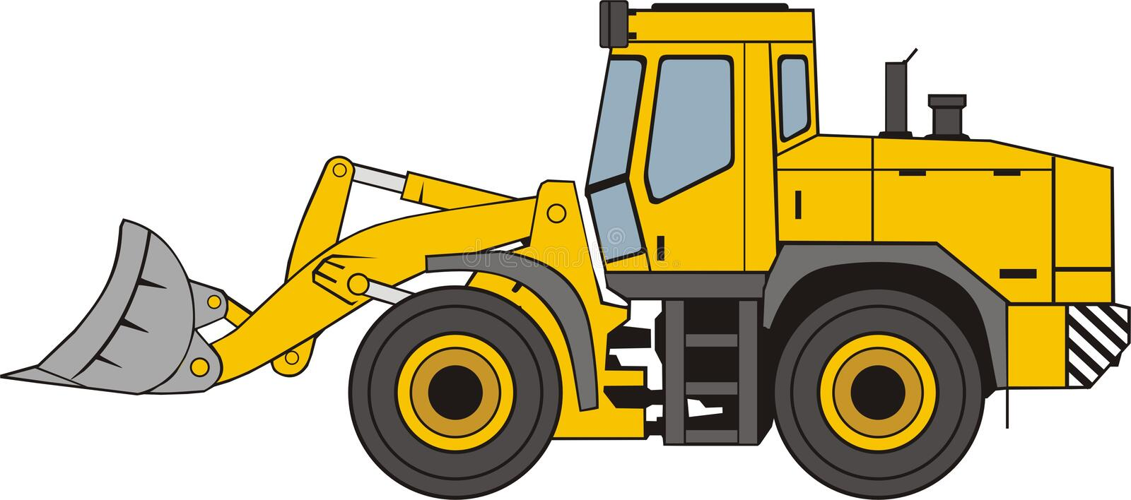 Frontal loader royalty free illustration