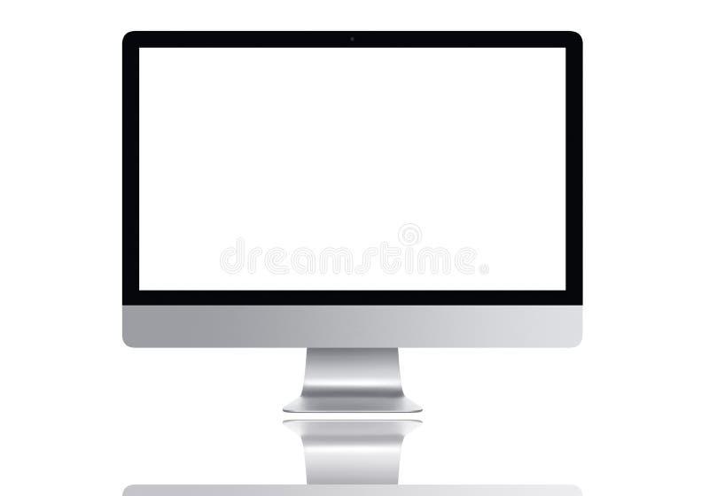Frontal Mac-datorskärm royaltyfria foton