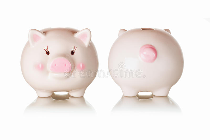 Download Frontal And Rear Views Of Piggybank Stock Photo - Image: 17583800