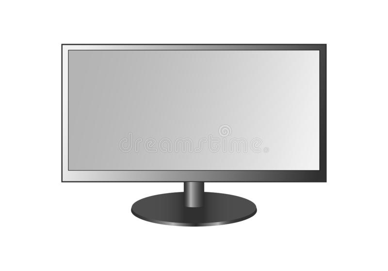 Frontal sikt av den widescreen ledd eller lcd-bildskärmen royaltyfri illustrationer