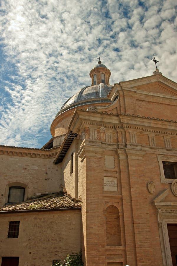 Frontale mening van de kerk van Assisi royalty-vrije stock foto