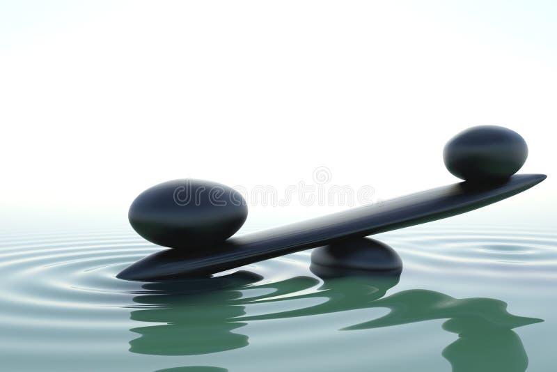 Frontales Zen balace stock abbildung