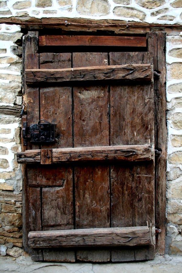 Frontdoor di legno immagini stock