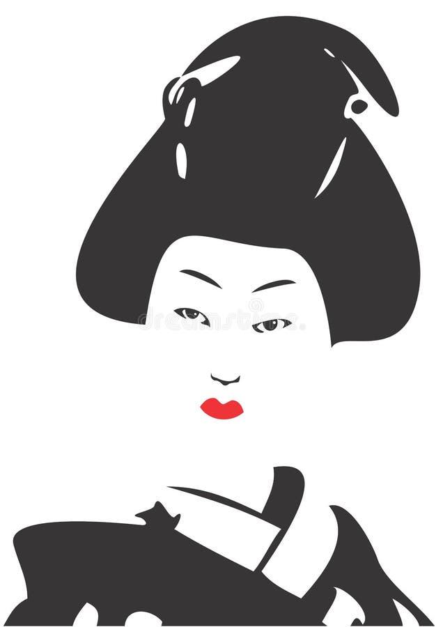 Fronte 03 della geisha illustrazione vettoriale