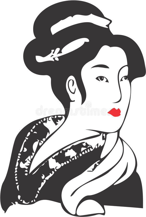 Fronte 11 della geisha illustrazione di stock