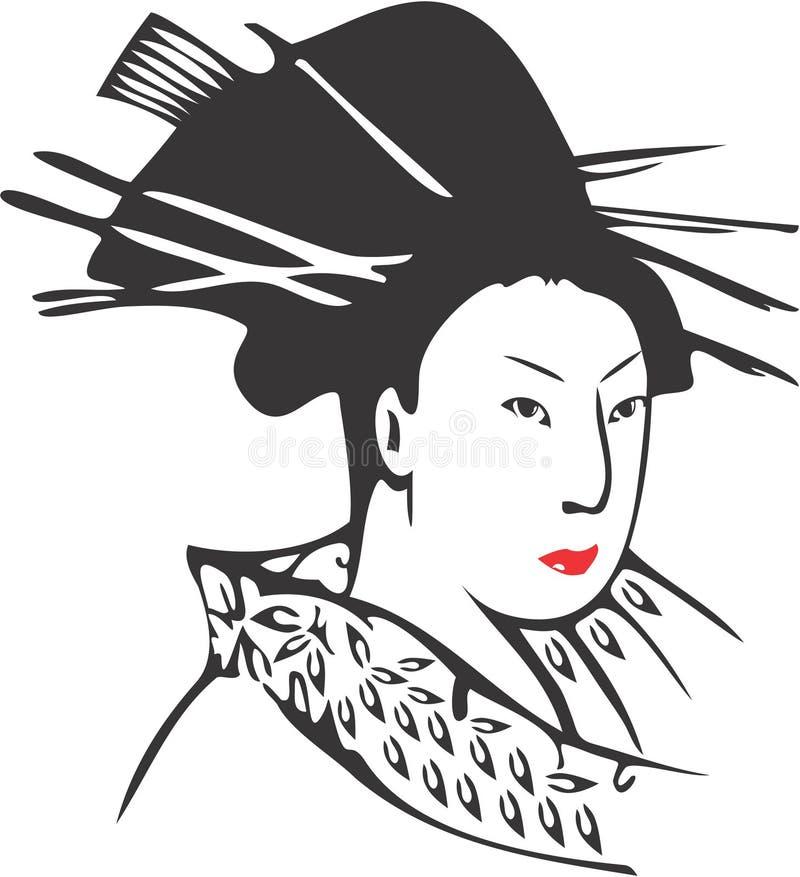 Fronte 13 della geisha illustrazione di stock